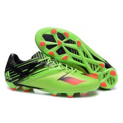 Adidas Messi 15.1 FG Scarpe Calcio Verde Solar Nero Rosso Solar