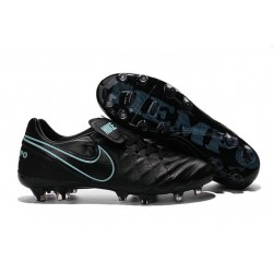 Nuove Scarpe Calcio Nike Tiempo Genio Leather FG Nero Blu