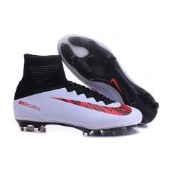 Scarpa da calcio Nike Mercurial Superfly V FG Uomo Nero Bianco Rosso