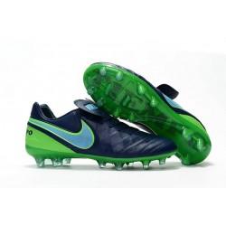 2016 Scarpa da calcio per terreni duri Nike Tiempo Legend VI - Uomo Blu Coastal Blu Polarized Verde Rage