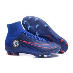 Scarpa da calcio Nike Mercurial Superfly V FG Uomo Chelsea FC Blu Arancione