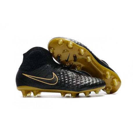 Nuova Nike Magista Obra II FG 2017 Scarpe da Calcio Oro Nero