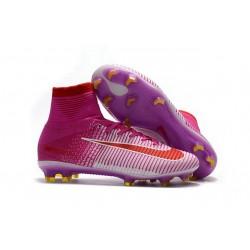 Scarpe Nike da Calcio - Nike Mercurial Mercurial Superfly 5 FG Rosa Bianco Rosso