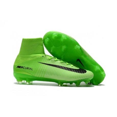 Scarpa da calcio Nike Mercurial Superfly V Tech Craft FG ACC Verde Electric NeroVerde Ghost