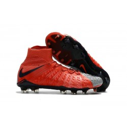 Scarpini Calcio Nike Hypervenom Phantom 3 DF FG ACC Grigio Lupo Viola Dynasty Arancione Max