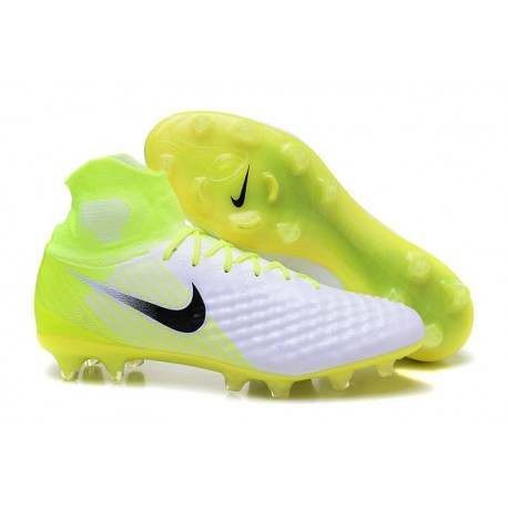 Nuove Scarpe da Calcio Per Terreni Nike Magista Obra 2 FG Verde Bianco Nero Volt