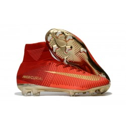 Nuove Scarpa da calcio Nike Mercurial Superfly V FG Rosso Oro