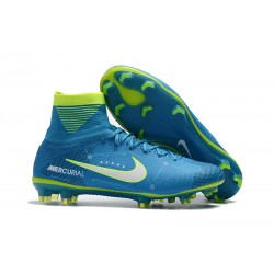 Nuove Scarpa da calcio Nike Mercurial Superfly V FG NJR Blu Bianco Volt