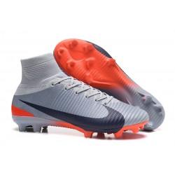 Nuove Scarpa da calcio Nike Mercurial Superfly V FG Grigio Nero Arancione