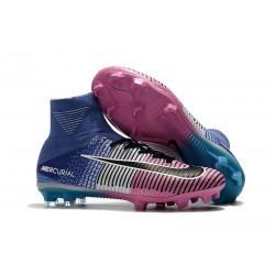 Nuove Scarpa da calcio Nike Mercurial Superfly V FG Blu Rosa Nero