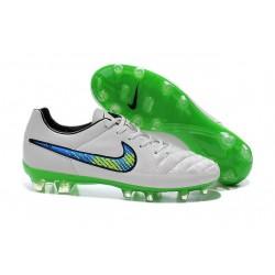 Scarpe Calcio Nike Tiempo Legend V FG - Uomo Bianco Verde Nero
