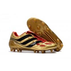 Nuovo Tacchetti da Calcio Adidas Predator Precision FG Nero Oro Rosso