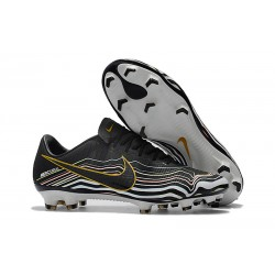 Scarpe Calcio Nike Mercurial Vapor 11 FG CR7 Nero Bianco Oro