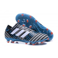 Nuovo Scarpe Da Calcio Adidas Nemeziz Messi 17.1 FG Grigeo Nero Blu