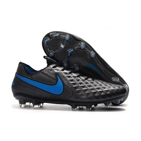 Scarpe Nike Tiempo Legend VIII Elite FG - Nero Blu