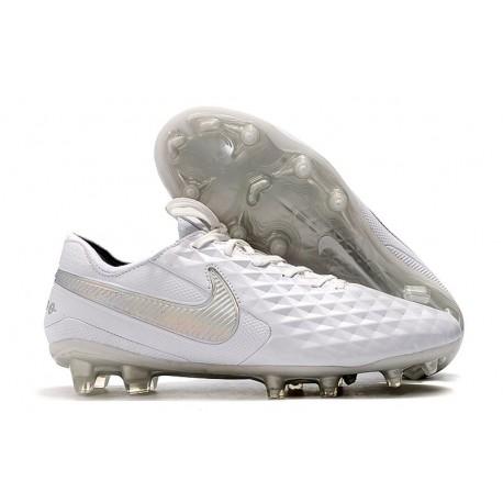 Scarpe Nike Tiempo Legend VIII Elite FG - Bianco Puro Platino Grigio