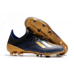 Scarpa da Calcio adidas X 19.1 FG Uomo Nero Blu Oro