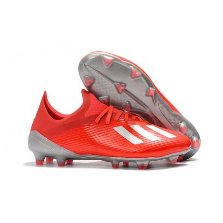 Scarpa da Calcio adidas X 19.1 FG Uomo Rosso Argento