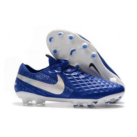 Scarpe Nike Tiempo Legend VIII Elite FG - Blu Bianco