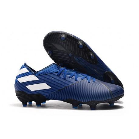adidas Scarpe da Calcio Nemeziz 19.1 FG - Blu Bianco