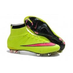 Nuove Scarpe calcio Nike Mercurial Superfly FG - Volt Rosso Nero