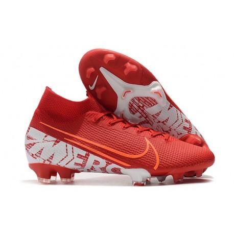 Nike Mercurial Superfly VII Elite FG Scarpe - Rosso Bianco