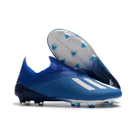 adidas X 19+ FG Nuovo Scarpa da Calcio - Blu Bianco