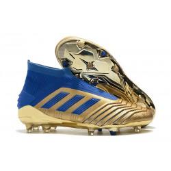 Scarpe Nuovo adidas Predator 19+ FG - Oro Blu