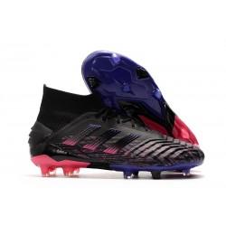 Scarpe Nuovo adidas Predator 19+ FG - Nero Rosa Blu