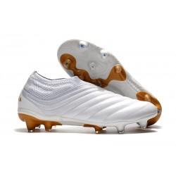 Nuovo Tacchetti da Calcio Adidas Copa 19+ FG Bianco Oro