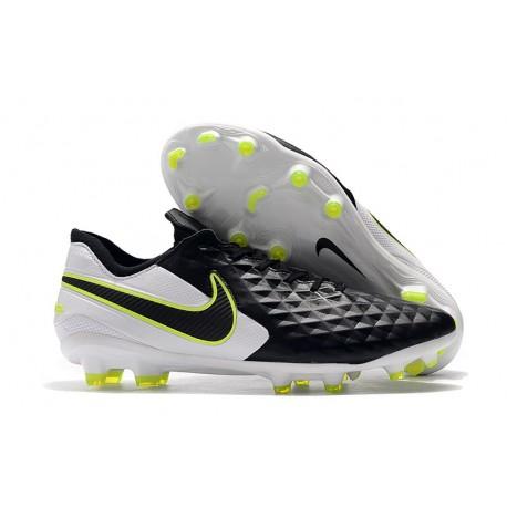 Scarpe Nike Tiempo Legend VIII Elite FG - Nero Bianco Volt
