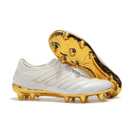 Nuovo Tacchetti da Calcio Adidas Copa 19.1 FG Bianco Oro