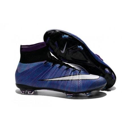 Nuove Scarpe calcio Nike Mercurial Superfly FG - Viola Nero Bianco Multicolore