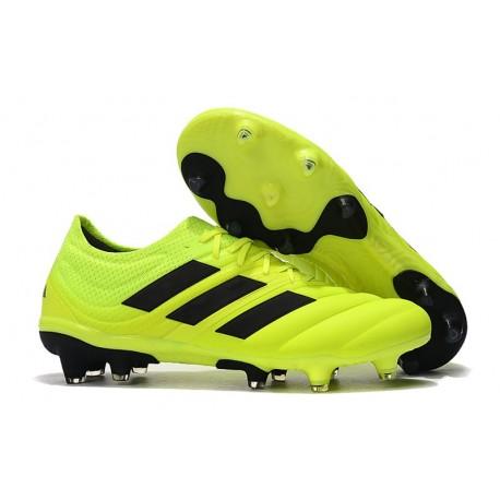 Nuovo Tacchetti da Calcio Adidas Copa 19.1 FG Volt Nero
