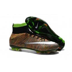 Nuove Scarpe calcio Nike Mercurial Superfly FG - Verde Nero Bianco Multicolore