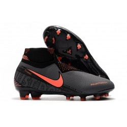 Nike Phantom Vision Elite Dynamic Fit FG Grigio Scuro Mango Acceso Nero