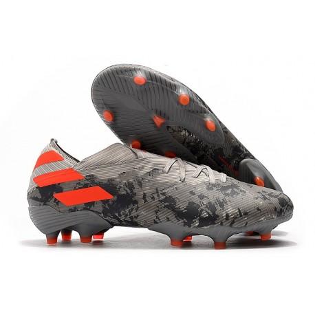 adidas Scarpe da Calcio Nemeziz 19.1 FG - Grigio Arancione Solar Gesso