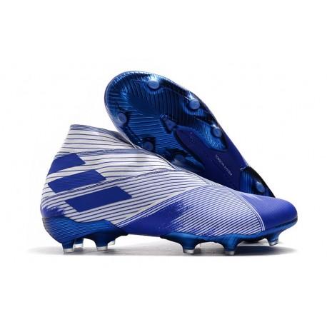 Scarpe da Calcio adidas Nemeziz 19+ FG Bianco Blu
