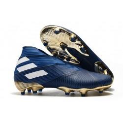 Scarpe da Calcio adidas Nemeziz 19+ FG Blu Bianco
