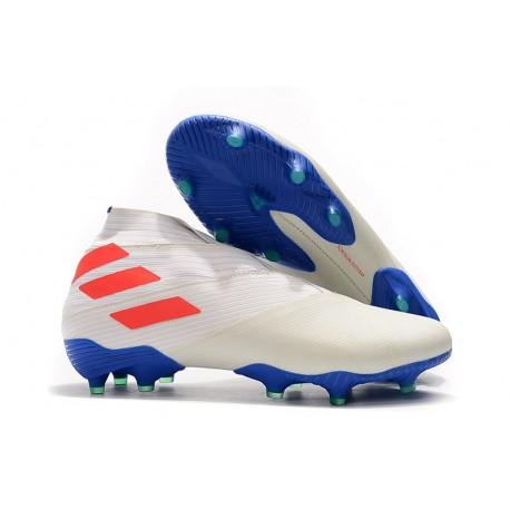 Scarpe da Calcio adidas Nemeziz 19+ FG Bianco Arancione