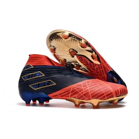 Scarpe da Calcio adidas Nemeziz 19+ FG Spider-Man Rosso Nero