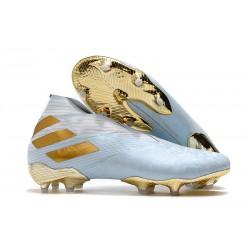 adidas Nemeziz 19+ FG Scarpa Acqua Bold/ Oro Metallico/ Bianco