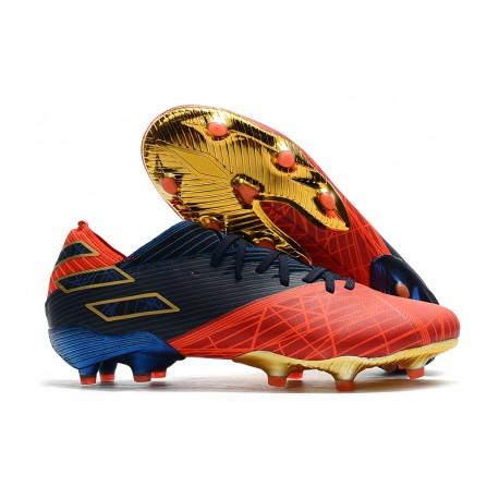 adidas Scarpe da Calcio Nemeziz 19.1 FG -X Marvel Rosso Blu Nero