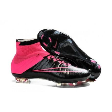 2015 Scarpe calcio Nike Mercurial Superfly FG - Uomo - Pelle Rosa Nero