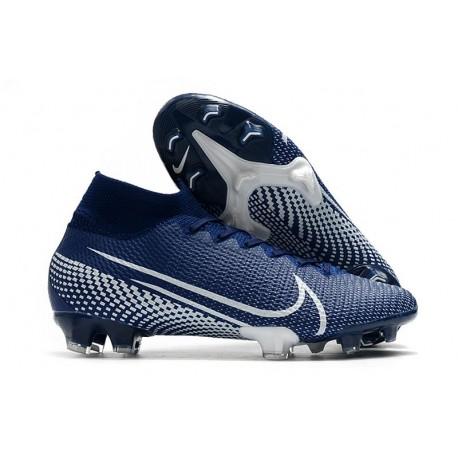 Scarpa Calcio Nike Mercurial Superfly 7 Elite FG - Blu Bianco