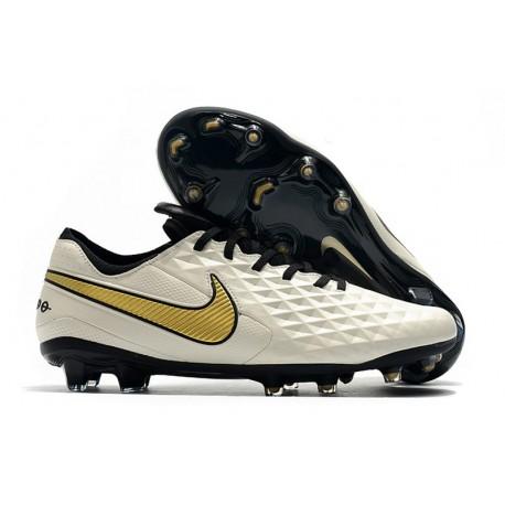 Scarpe Nike Tiempo Legend VIII Elite FG - Bianco Oro