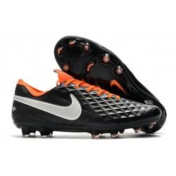 Scarpe Nike Tiempo Legend VIII Elite FG - Nero Bianco Arancione