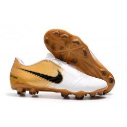 Nike Scarpe Calcio Phantom Venom Elite FG Bianco Oro Nero