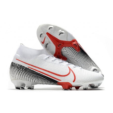 Nike Mercurial Superfly VII Elite Dynamic Fit FG Bianco Cremisi Nero