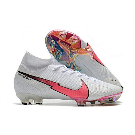 Nike Mercurial Superfly VII Elite Dynamic Fit FG Bianco Cremisi Blu